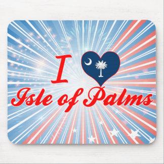 Amo la isla de palmas, Carolina del Sur Tapete De Ratones