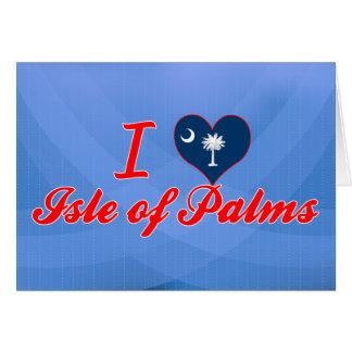 Amo la isla de palmas, Carolina del Sur Tarjetón
