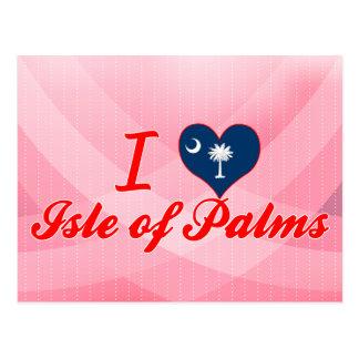 Amo la isla de palmas Carolina del Sur Tarjetas Postales