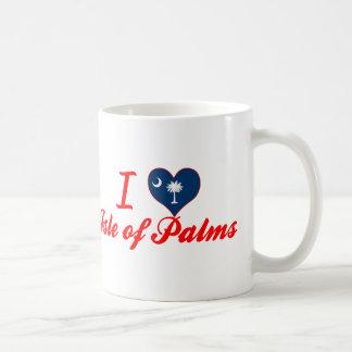 Amo la isla de palmas, Carolina del Sur Tazas