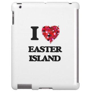 Amo la isla de pascua funda para iPad