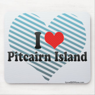Amo la isla de Pitcairn Alfombrilla De Raton