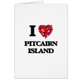 Amo la isla de Pitcairn Tarjeta De Felicitación