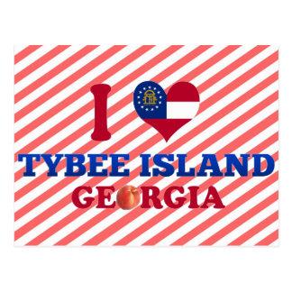 Amo la isla de Tybee, Georgia Postales
