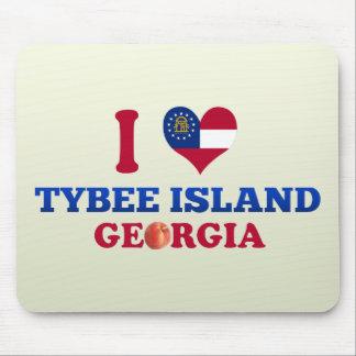 Amo la isla de Tybee, Georgia Alfombrilla De Ratón