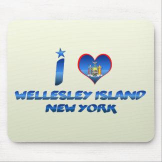 Amo la isla de Wellesley, Nueva York Tapete De Ratón