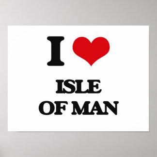 Amo la isla del hombre impresiones