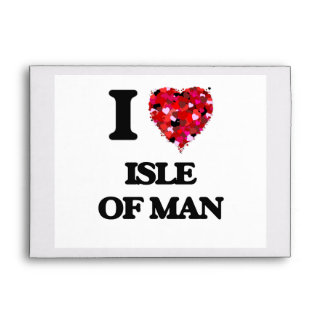 Amo la isla del hombre sobres
