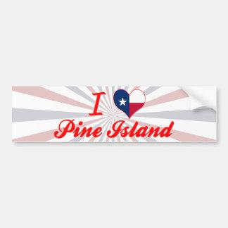 Amo la isla del pino, Tejas Pegatina De Parachoque