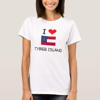 Amo la ISLA Georgia de TYBEE Playera