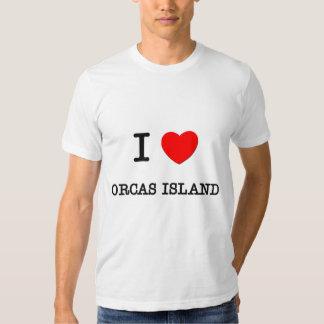 Amo la isla Washington de las orcas Remera
