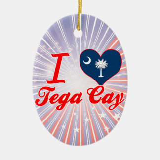 Amo la isleta de Tega, Carolina del Sur Adorno De Navidad