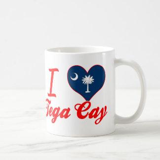 Amo la isleta de Tega Carolina del Sur Taza De Café