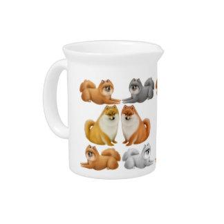 Amo la jarra de los perros de Pomeranian