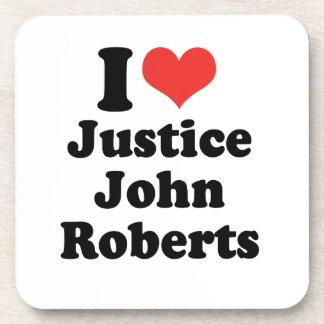 AMO LA JUSTICIA JOHN ROBERTS - .PNG POSAVASOS DE BEBIDAS