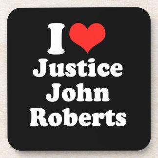 AMO LA JUSTICIA JOHN ROBERTS .PNG POSAVASOS DE BEBIDA