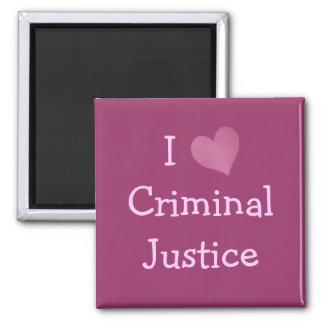 Amo la justicia penal imán para frigorífico