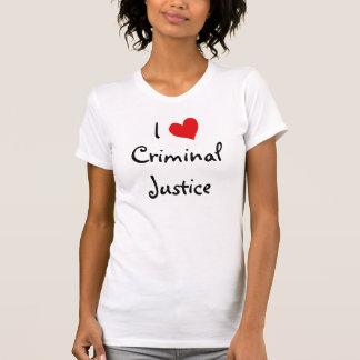 Amo la justicia penal camiseta