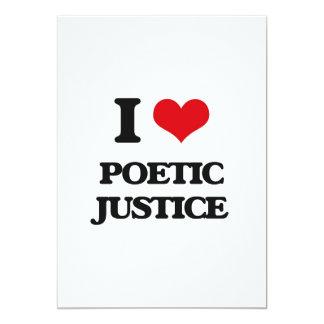 """Amo la justicia poética invitación 5"""" x 7"""""""