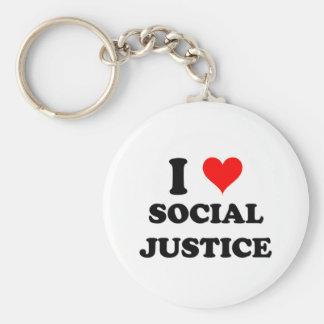 Amo la justicia social llaveros