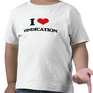 Amo la justificación camiseta