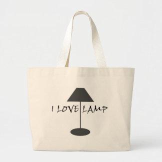 Amo la lámpara bolsa lienzo