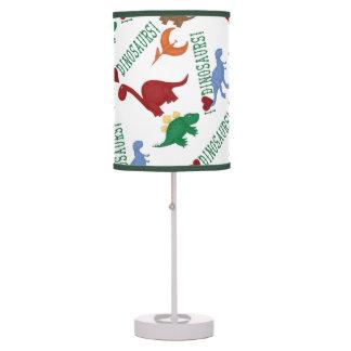 Amo la lámpara colorida de los niños de los dinosa