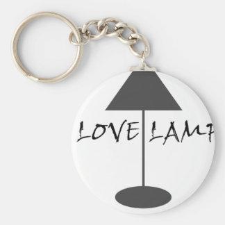 Amo la lámpara llavero redondo tipo pin