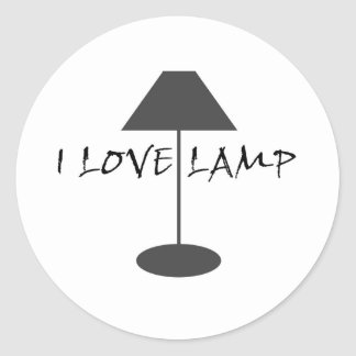 Amo la lámpara pegatina redonda