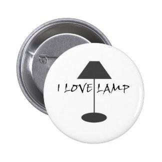Amo la lámpara pin redondo de 2 pulgadas
