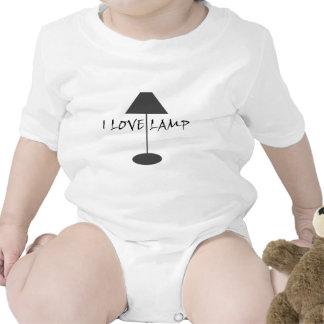 Amo la lámpara traje de bebé
