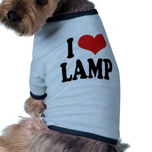 Amo la lámpara ropa de perros