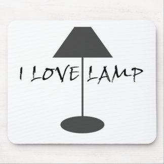 Amo la lámpara alfombrilla de ratón