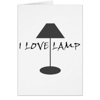 Amo la lámpara tarjetas