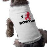 Amo la langosta de Boston Playera Sin Mangas Para Perro