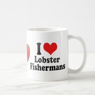Amo la langosta Fishermans Tazas De Café
