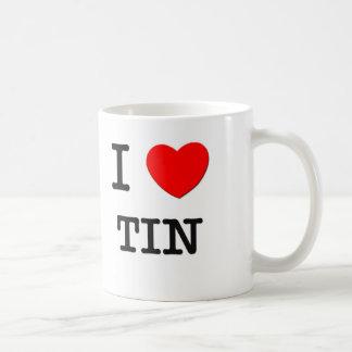 Amo la lata tazas de café