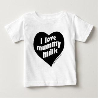 Amo la leche de la momia playera de bebé