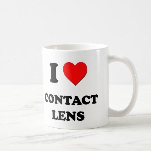 Amo la lente de contacto taza básica blanca