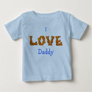 Amo la letra del alfabeto del oso de Shirt~Teddy Playeras