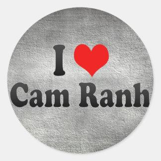 Amo la leva Ranh, Vietnam Pegatina Redonda