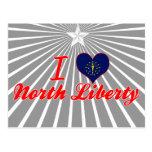 Amo la libertad del norte, Indiana Tarjeta Postal