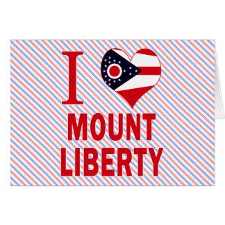 Amo la libertad del soporte Ohio Felicitacion