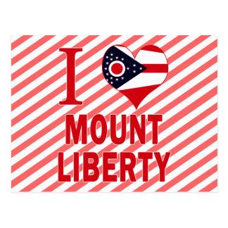 Amo la libertad del soporte Ohio Tarjetas Postales