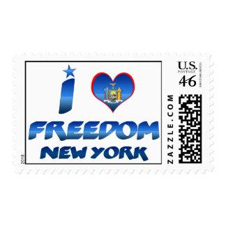 Amo la libertad Nueva York Franqueo
