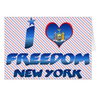 Amo la libertad Nueva York Tarjetas