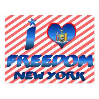 Amo la libertad Nueva York Tarjetas Postales