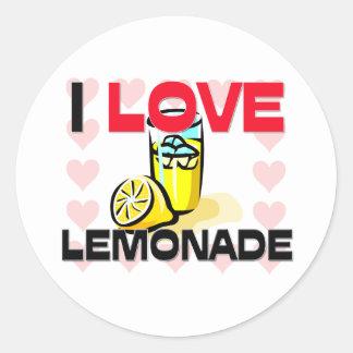 Amo la limonada pegatinas redondas