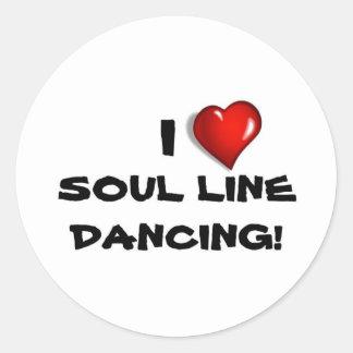 ¡Amo la línea baile del alma! Pegatinas Redondas