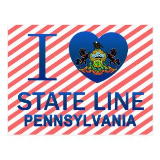 Amo la línea de estado, PA Postal